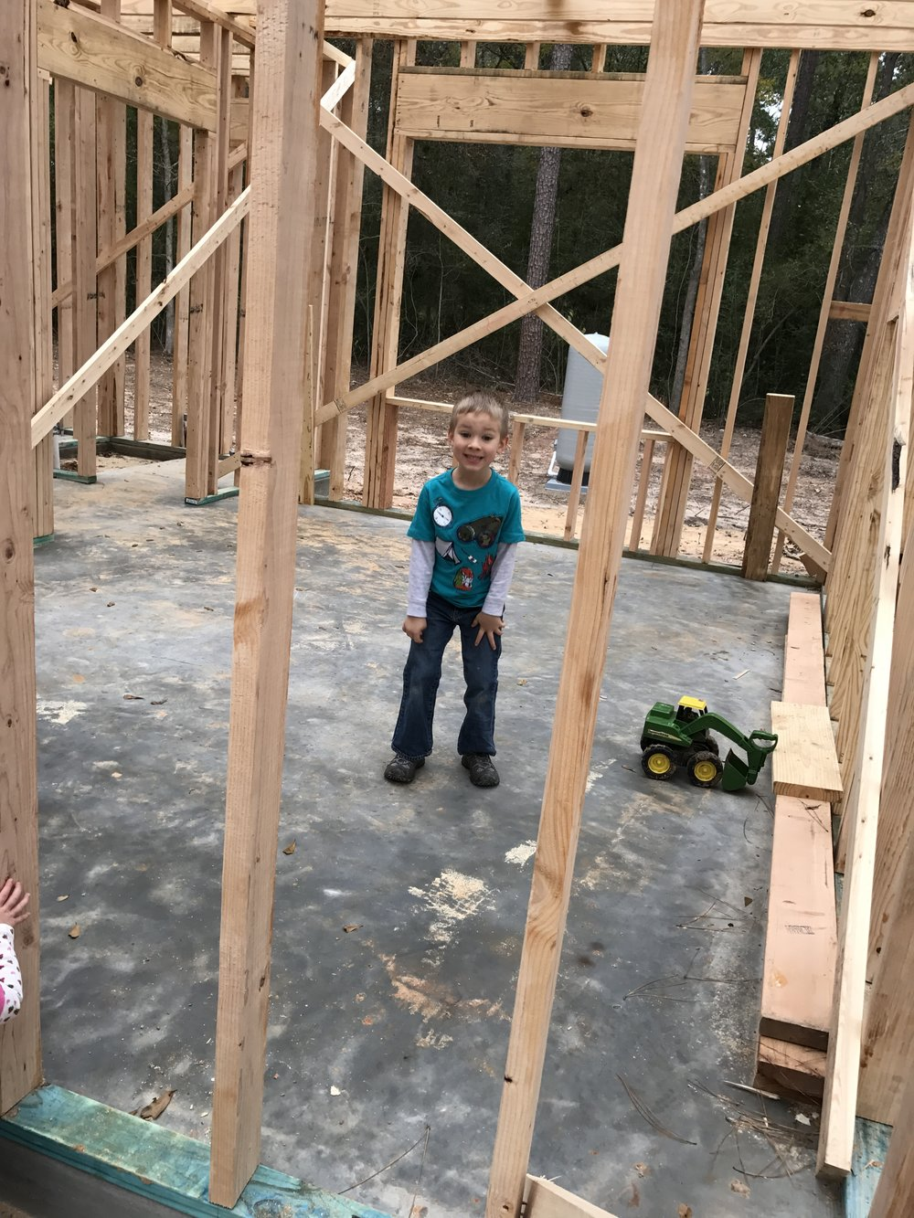 Excited about his new room!