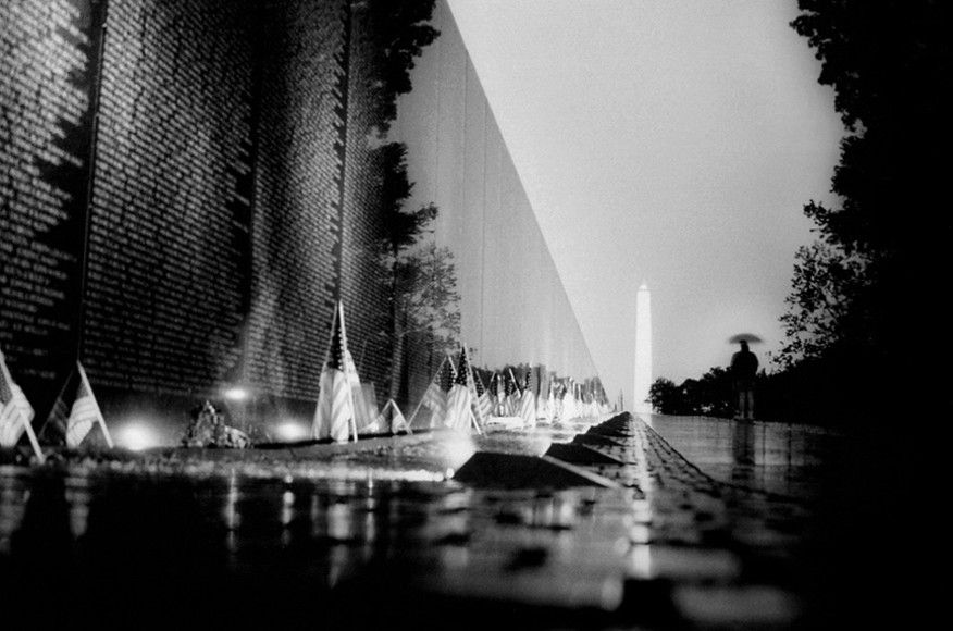 Vietnam Veterans Memorial (1982) designed by Maya Lin