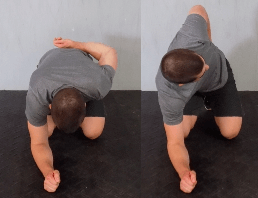 Rock back T-spine rotation: how far can you go?