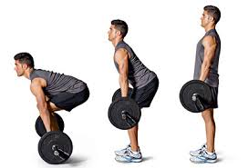 Looks straight ahead and has more hyperextension in neck during the lift.