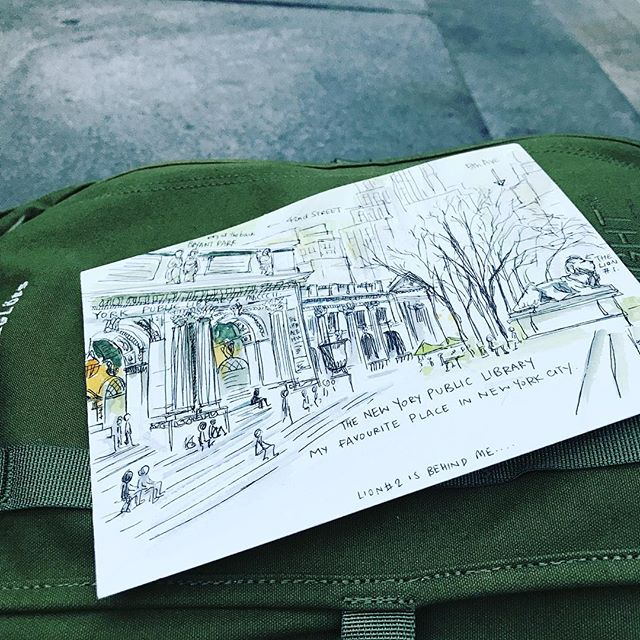 my favorite place in town #nypl #newyorkcity #travelillustration #illustration