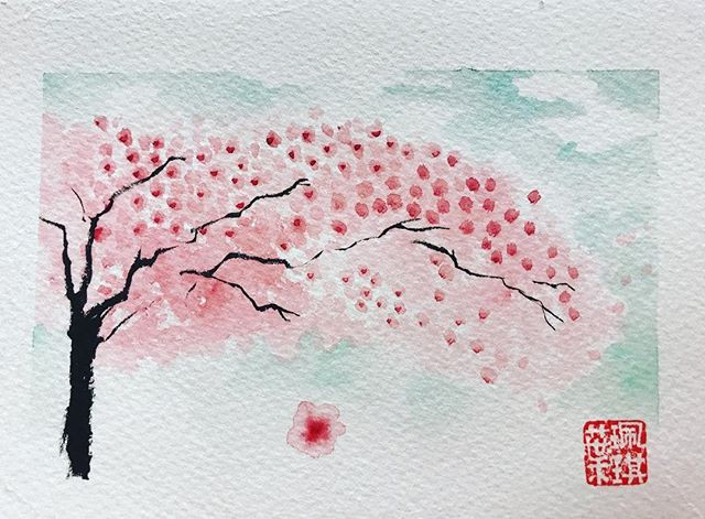 random sketch #watercolor #cherryblossom #sketches