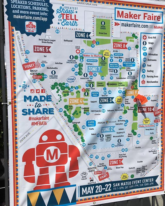 We're in zone 2 right across from the arduino booth.  Come find us.  #mfba16 #justhover #hoverlabs #arduino #makerfaire #make