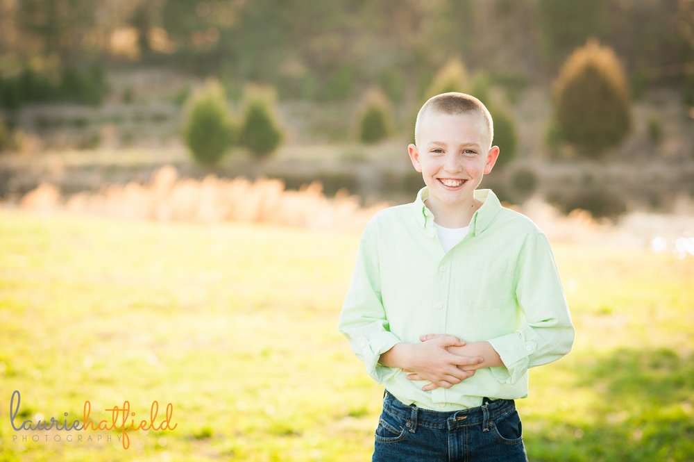 11-year-old boy in grass {huntsville photographer}