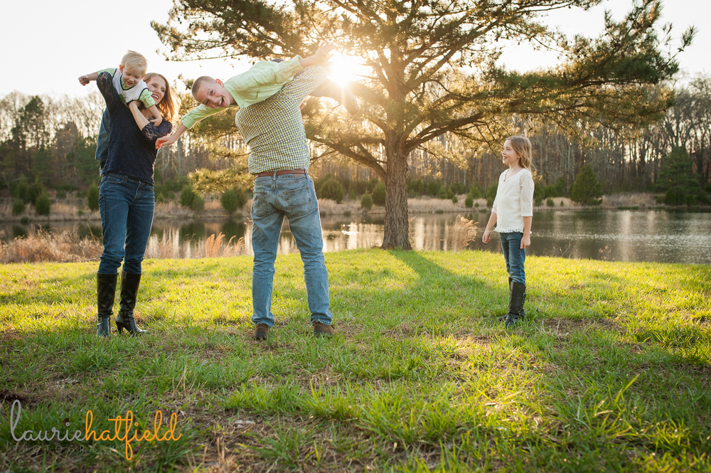 family of five playing in grass {huntsville al family photographer}