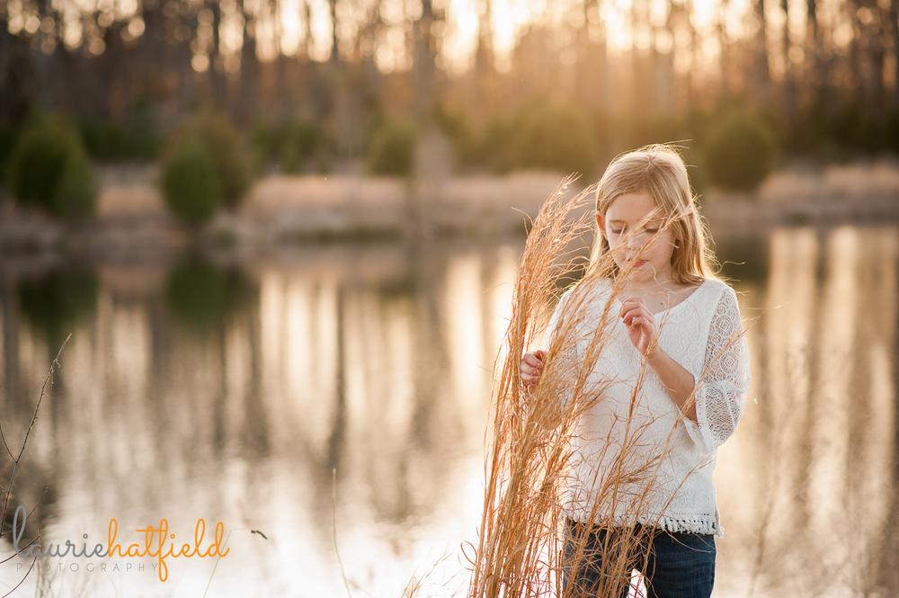 9-year-old girl in tall grass {huntsville photographer}