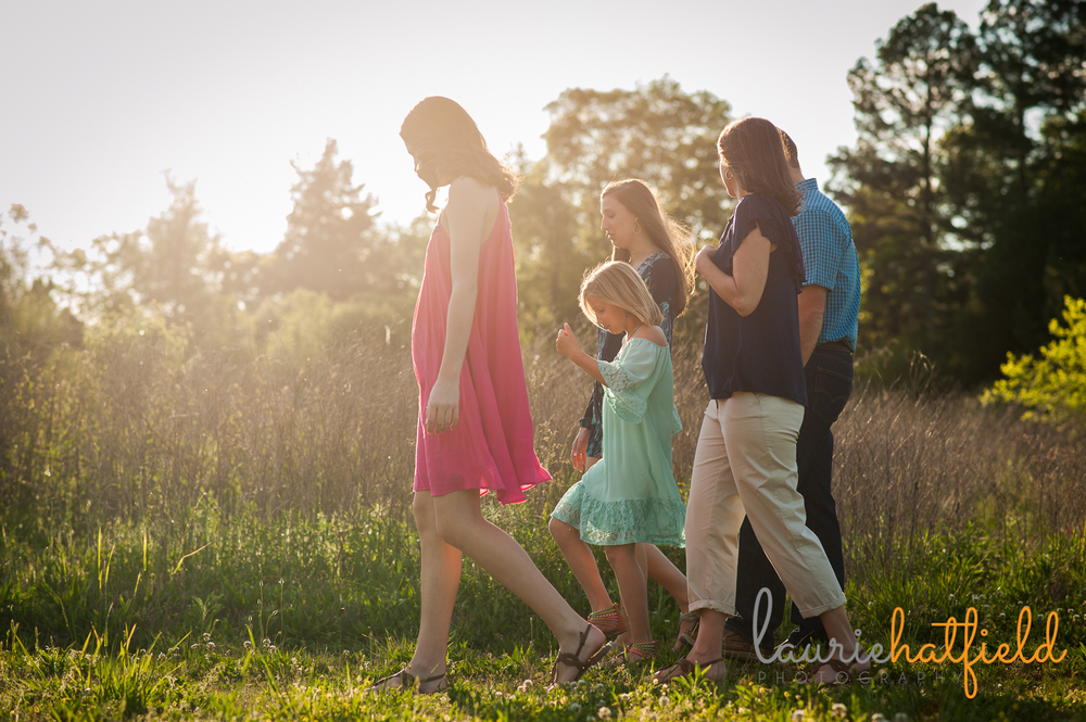 family of five in field | Huntsville lifestyle photographer