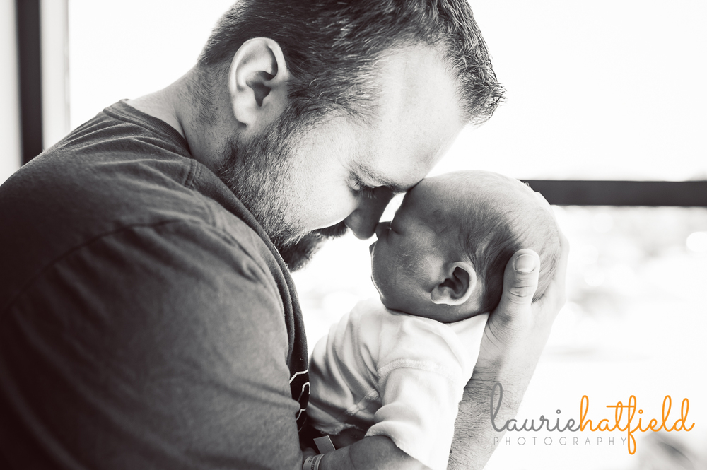 dad with newborn son | Huntsville baby photographer