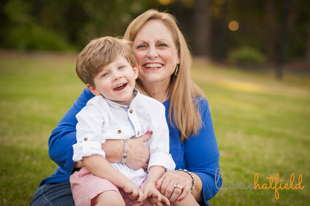 grandmother and 3-year-old grandson | Huntsville family photography