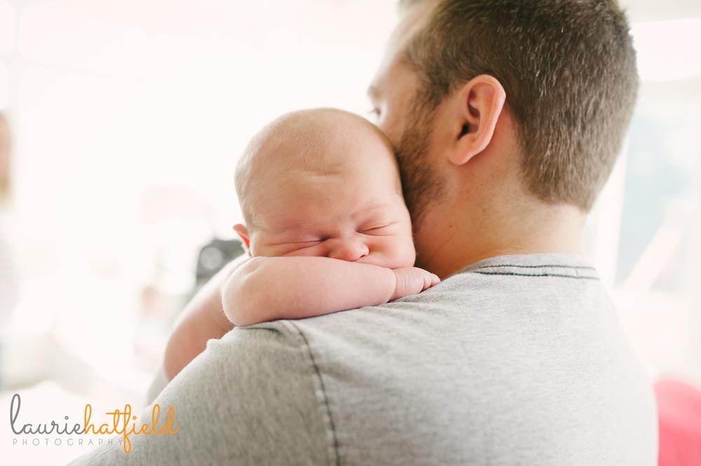 baby boy and dad | Huntsville newborn photographer