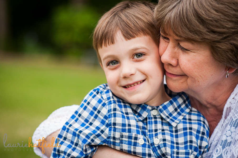 grandmother with grandson | Huntsville family photographer