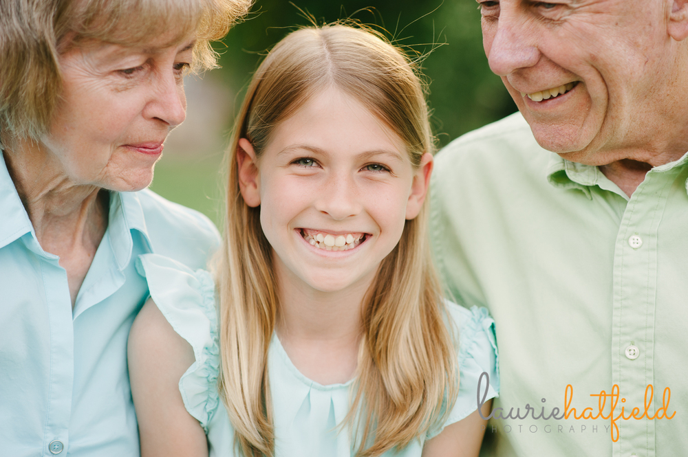 granddaughter with grandparents | Huntsville photographer
