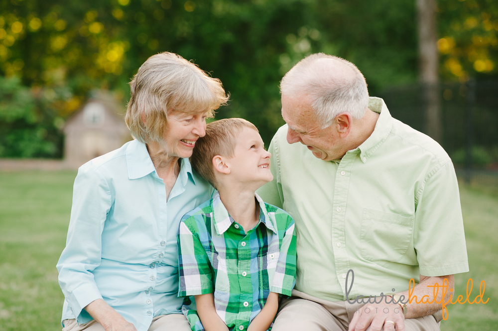 grandson with grandparents | Huntsville family photographer
