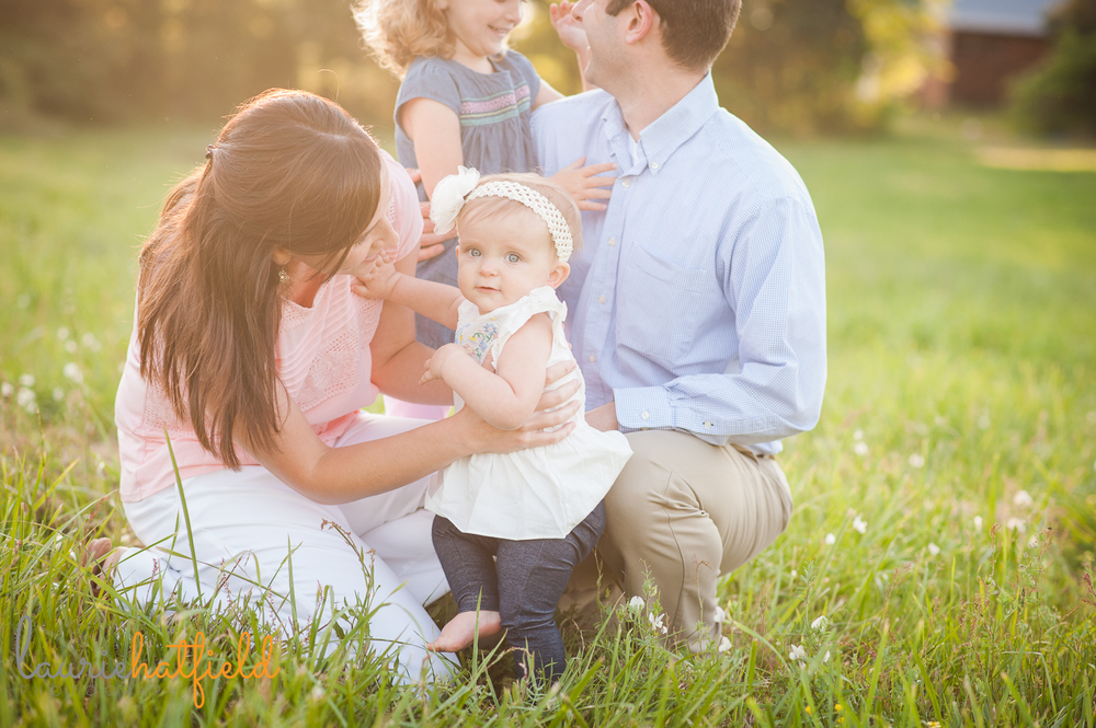 baby girl with family | Huntsville photographer