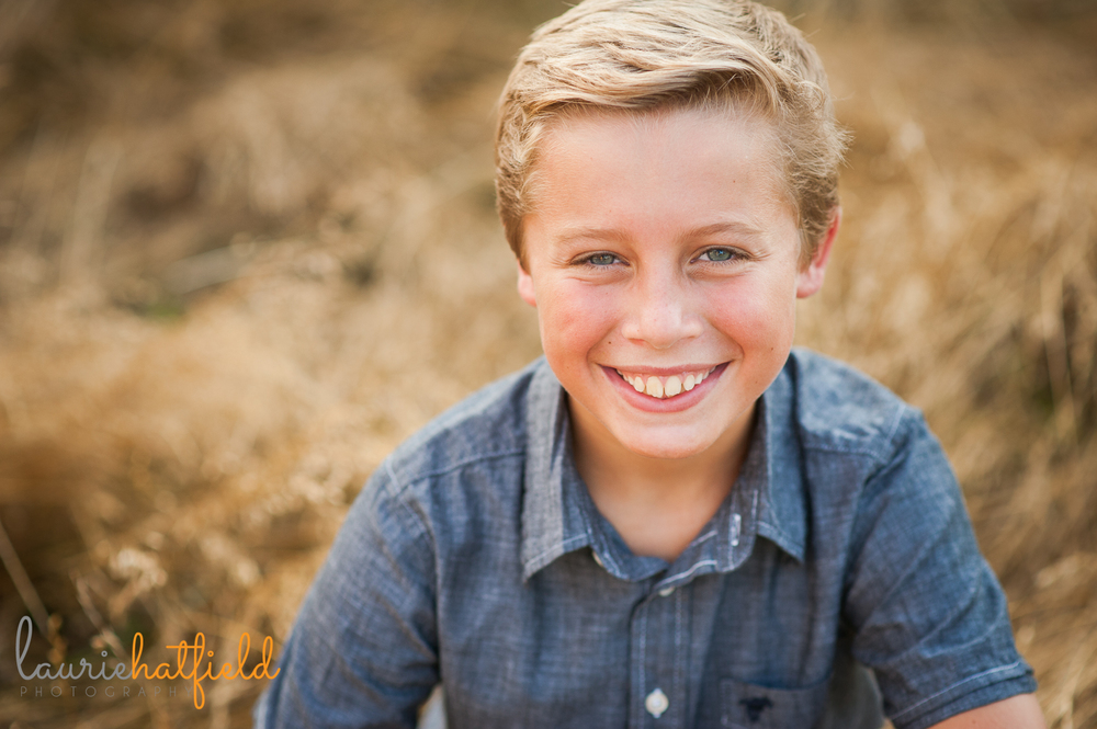 11-year-old boy in field | Huntsville child photographer