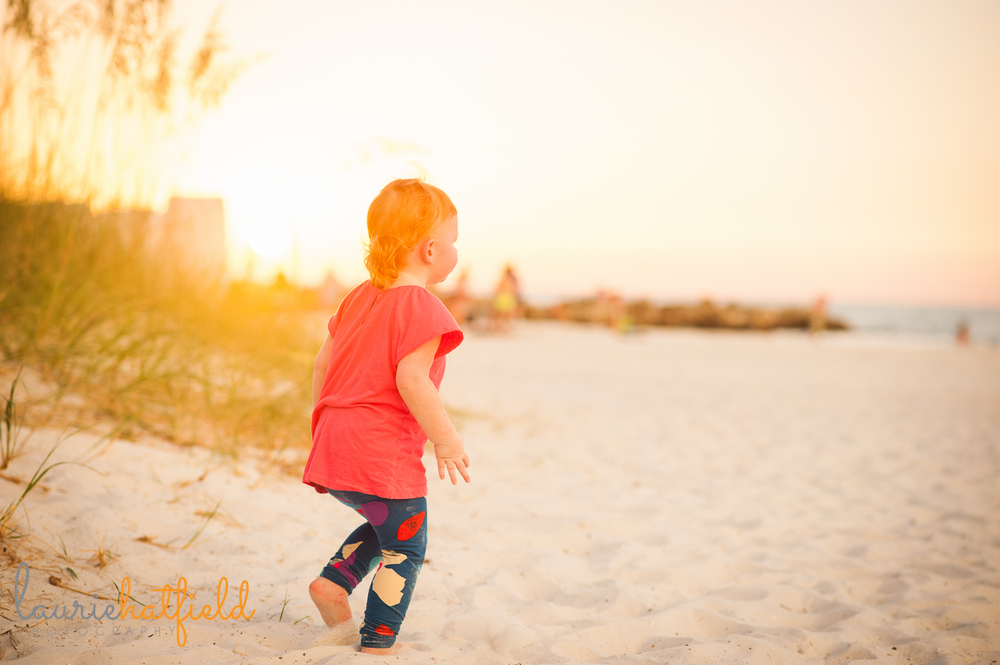 2-year-old girl on beach | Huntsville photographer