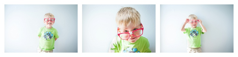 3-year-old and silly glasses | Huntsville children's photographer