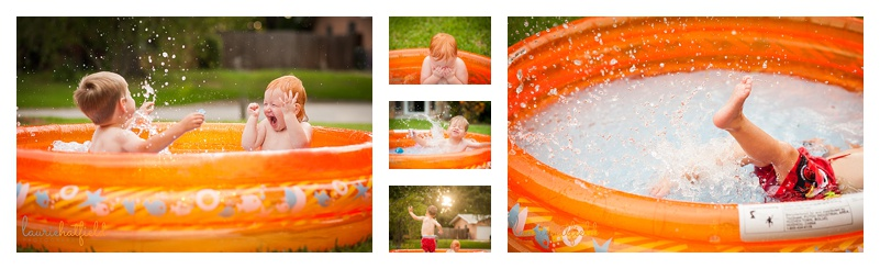 children playing in pool | Huntsville photographer