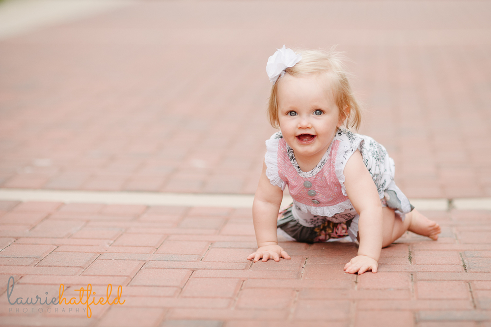 one-year-old baby girl | Huntsville child photographer