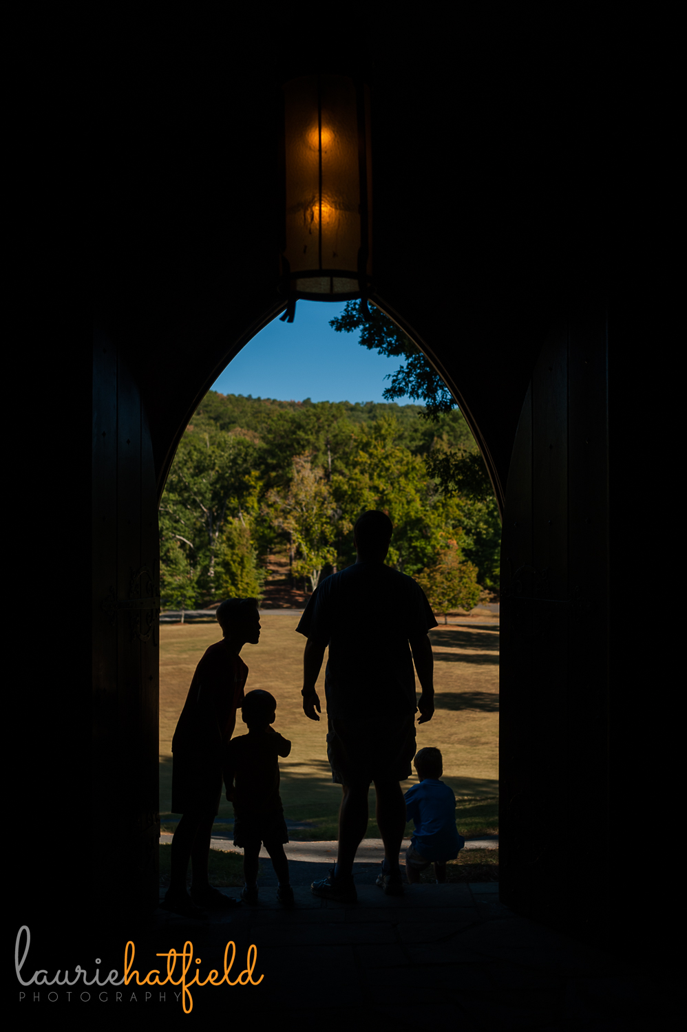 dad and sons at Frost Chapel | Huntsville photographer