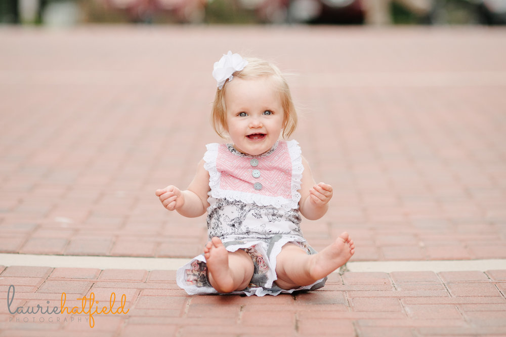 one year old baby girl | Mobile AL child photographer