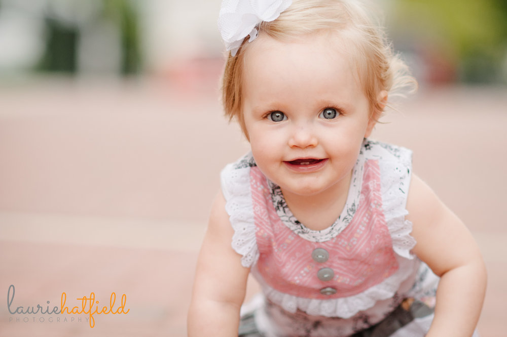 one year old baby girl | Mobile AL photographer