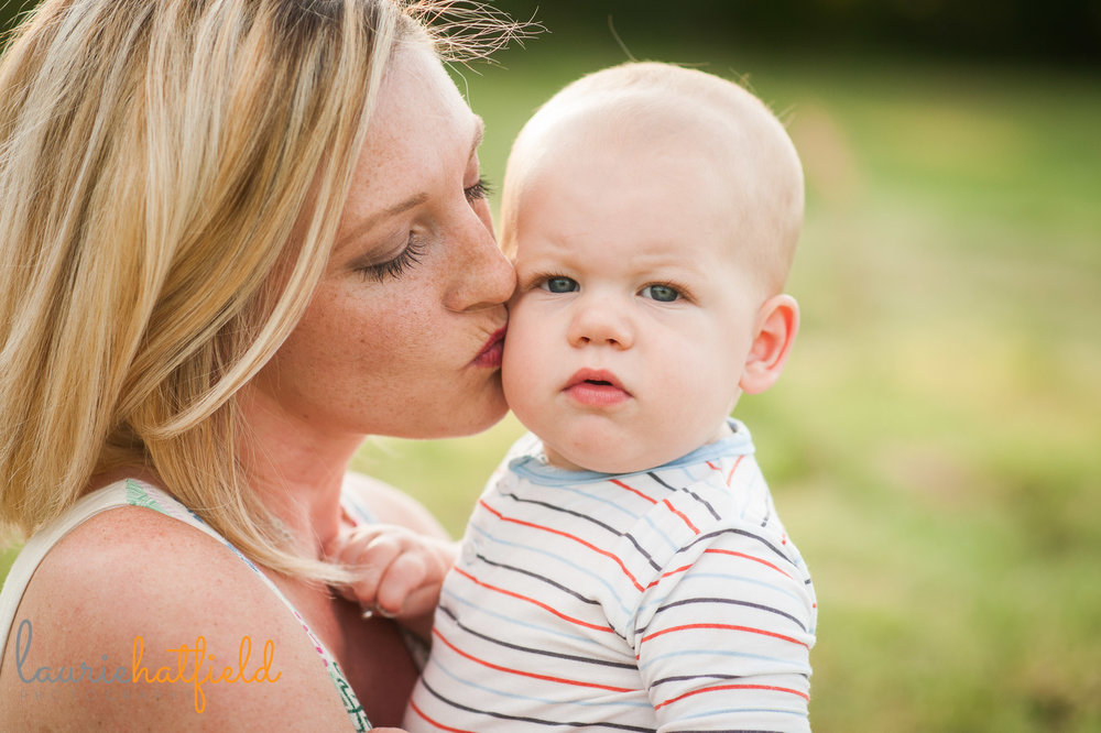 mom kissing baby boy | Mobile AL family photographer
