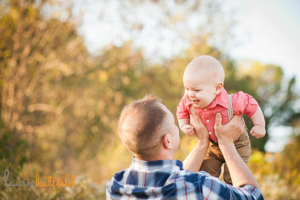 dad playing with 9-month-old baby | Mobile AL family photographer