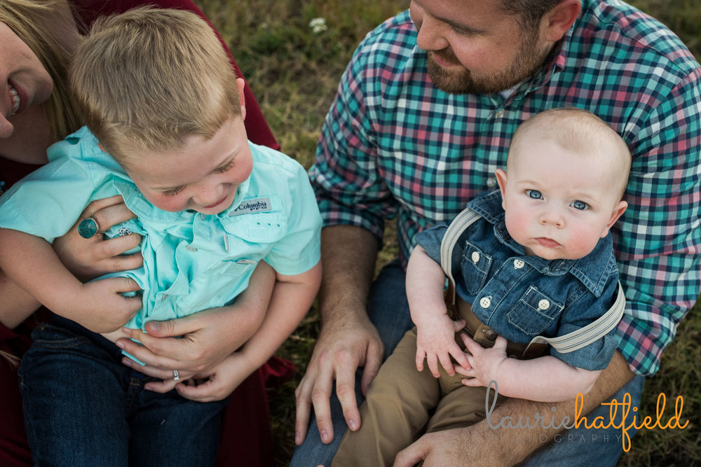 family of four seated | Mobile AL photographer