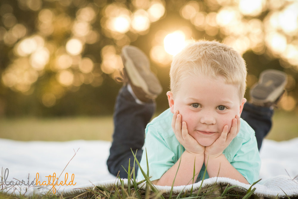 3 year old boy lying on stomach | Mobile AL child photographer