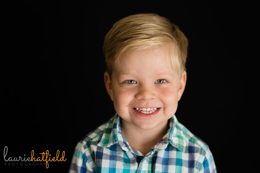 school portrait of 3-year-old | Mobile AL preschool photographer