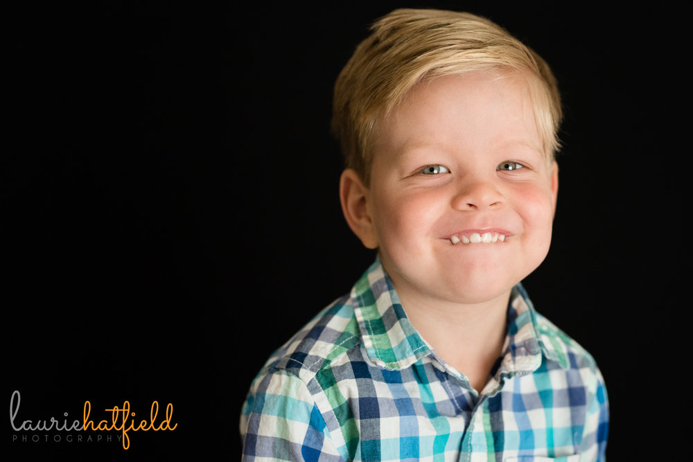 3-year-old boy preschool portrait | Mobile AL school photographer