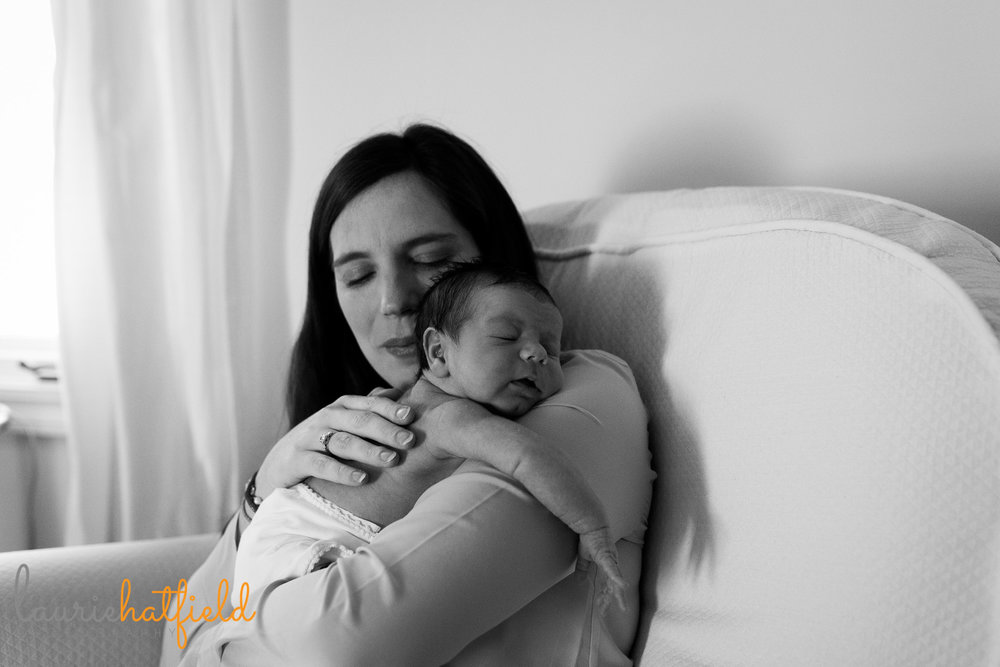 mom with baby boy | Mobile newborn photographer