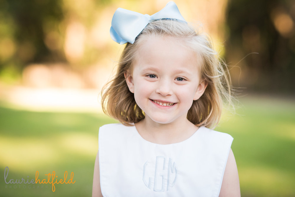 6-year-old little girl portrait | Mobile AL family photographer | laurie hatfield photography