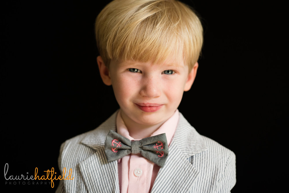 little boy school portrait | Mobile AL preschool photographer