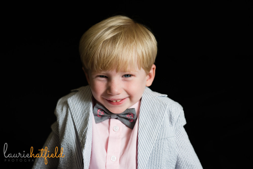 little boy in bow tie | Mobile AL preschool photographer