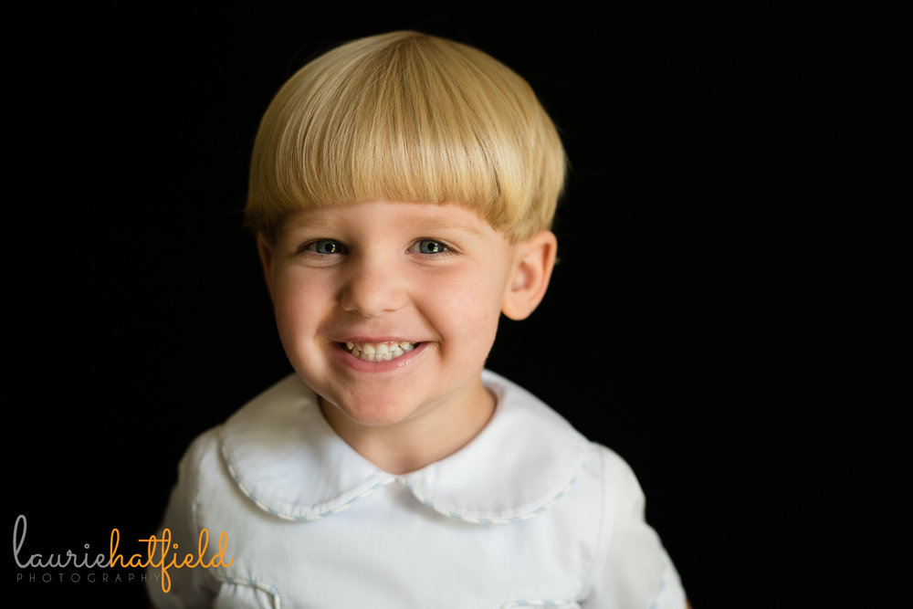 little boy with blond hair | Mobile AL preschool photographer