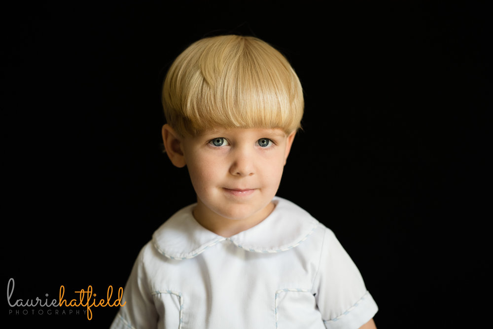 2-year-old boy school portrait | Mobile AL preschool photographer