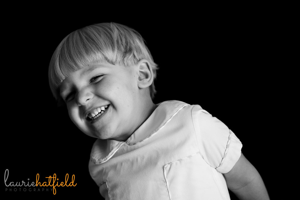 little boy laughing | Mobile AL preschool portraits