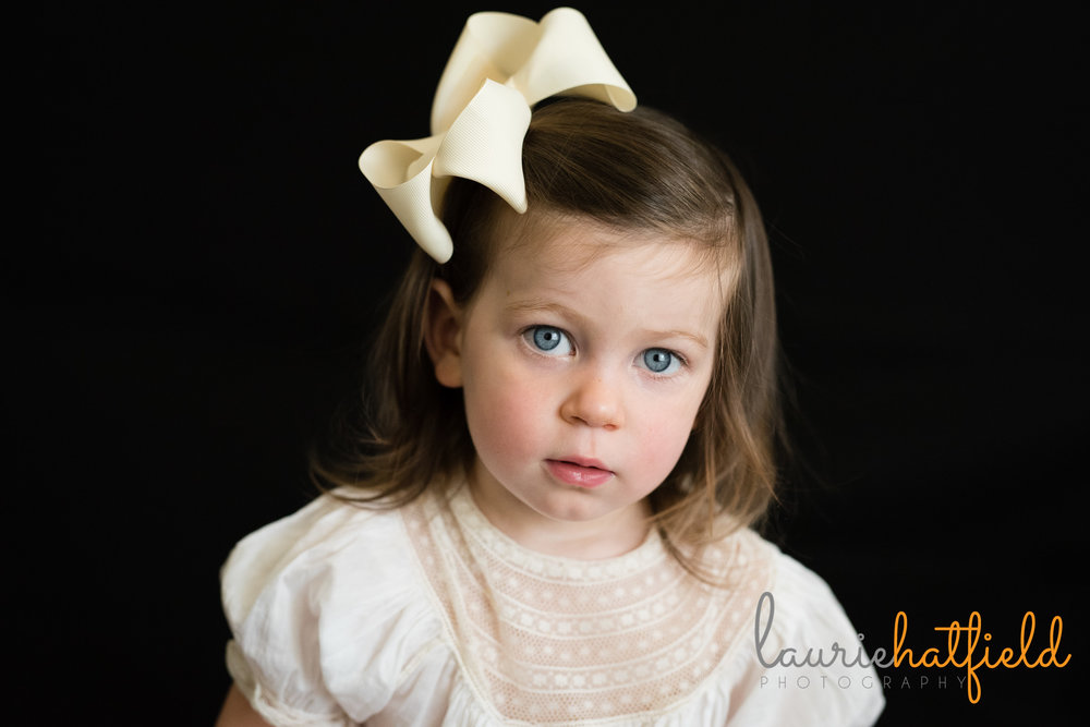 2-year-old girl with blue eyes | Mobile AL preschool photographer