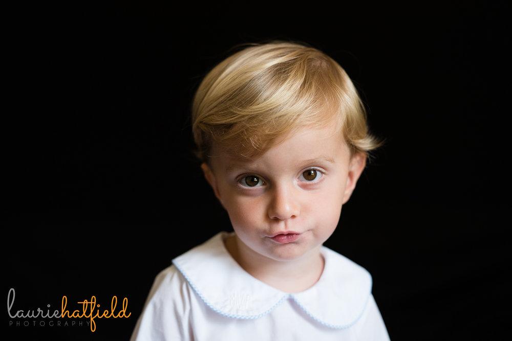 3-year-old boy school portrait | Mobile AL preschool photographer