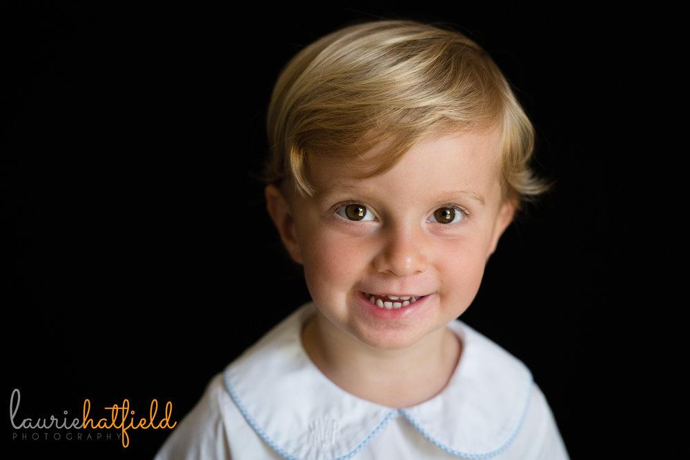 3 year old boy school portrait | Mobile AL preschool photography