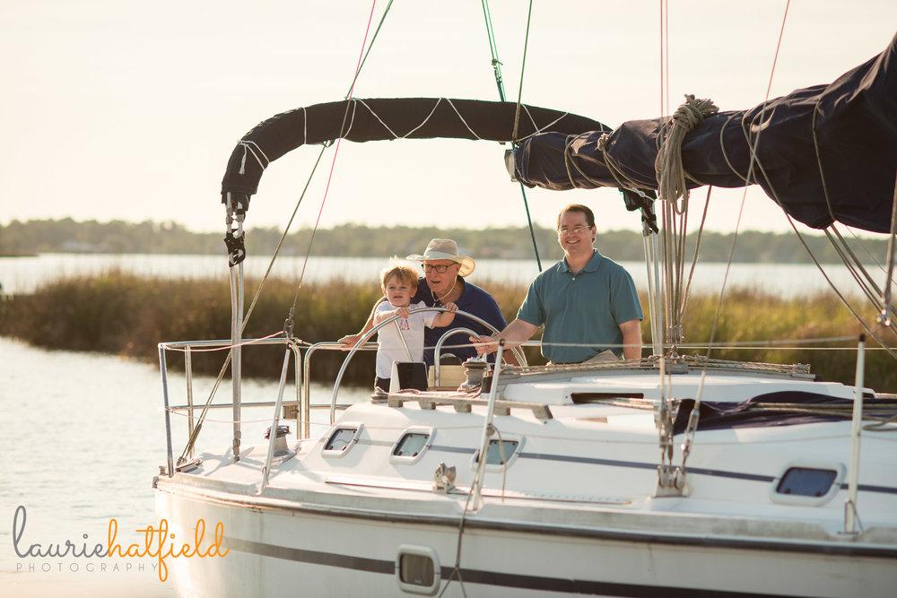 family on sailboat | Mobile AL photographer