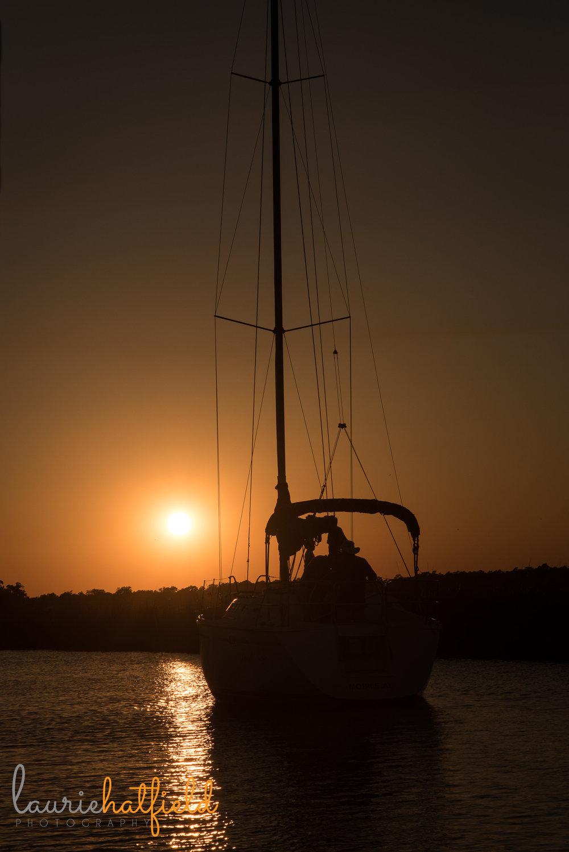 sailboat at sunset | Mobile AL photographer