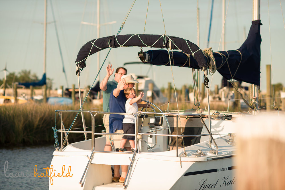 3 generations on a sailboat | Mobile AL family photographer