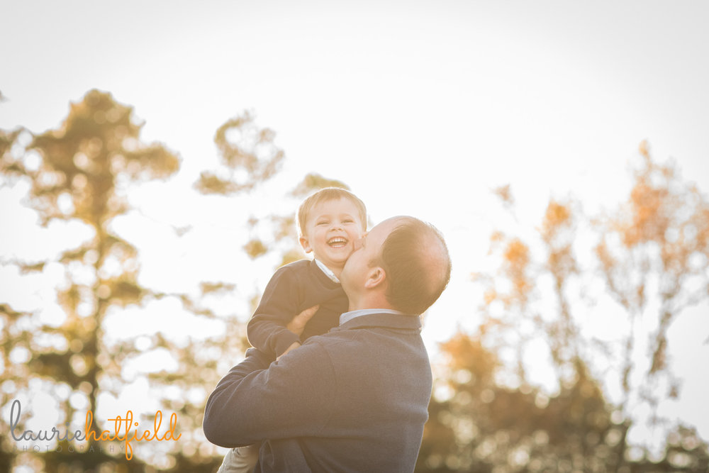 dad kissing son | Mobile AL family photographer