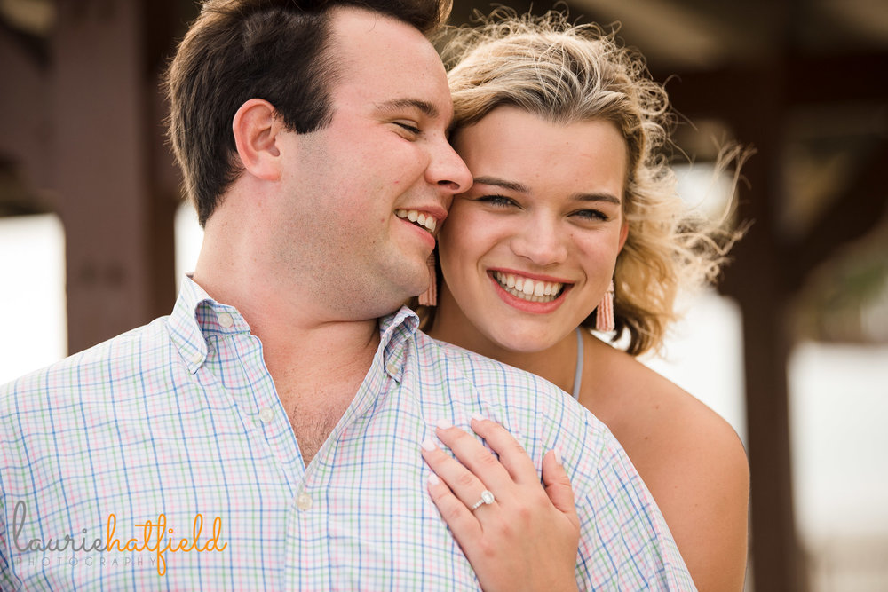 newly engaged couple | Fairhope AL proposal photography