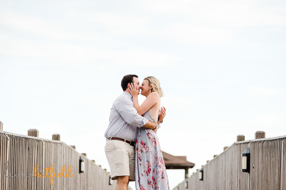 Fairhope Pier engagement photo session | Mobile AL proposal photographer