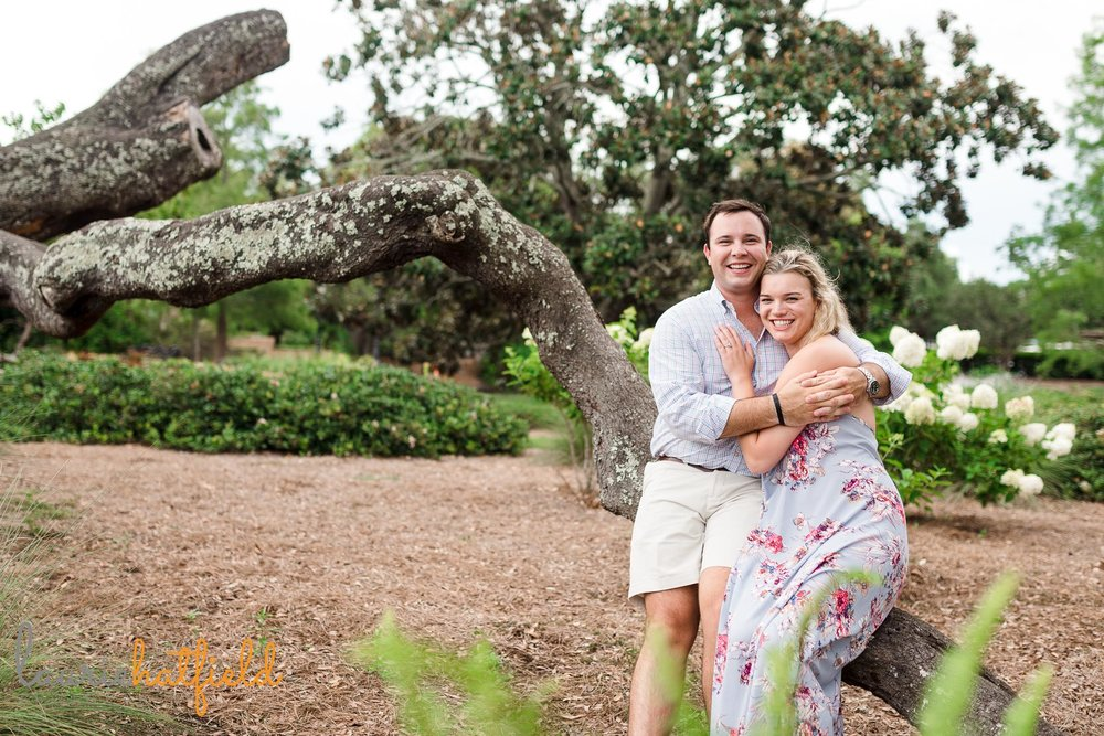 newly engaged couple | Mobile AL proposal photographer