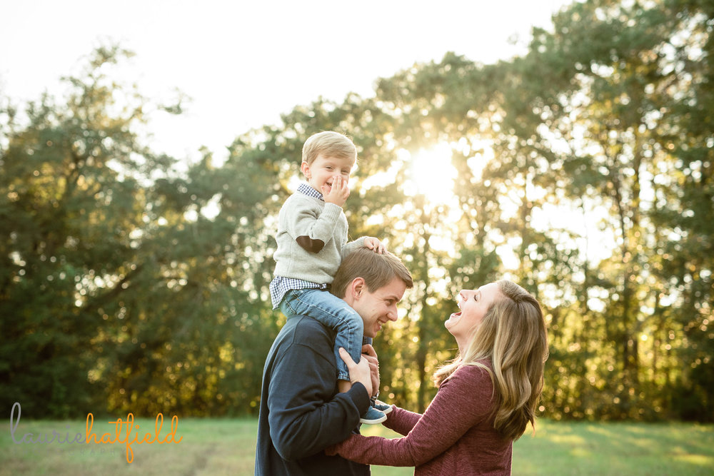 family of 3 laughing | Mobile AL lifestyle photographer